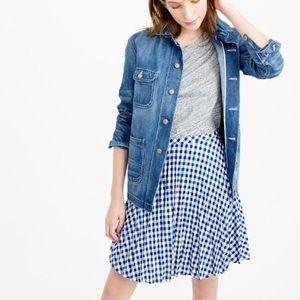J. Crew gingham pleated mini skirt, size 10